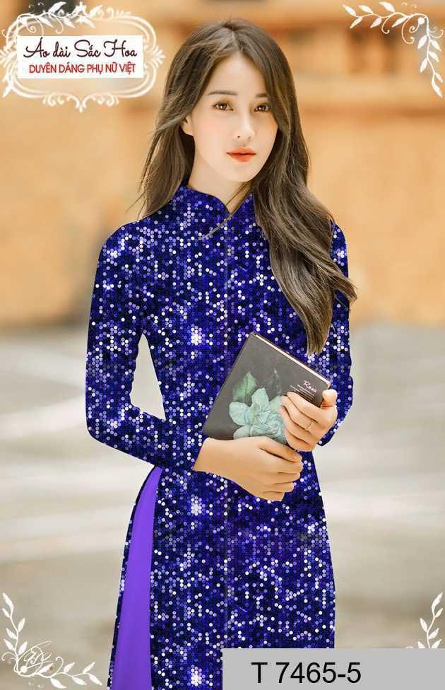 Vải áo dài lấp lánh 3D AD T7465 27
