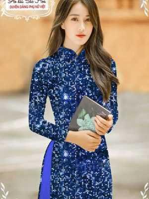 Vải áo dài lấp lánh 3D AD T7465 19