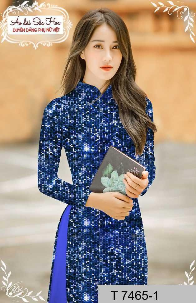 Vải áo dài lấp lánh 3D AD T7465 32