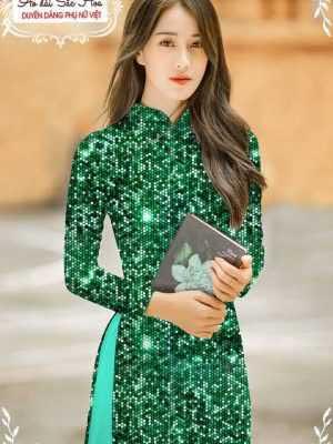 Vải áo dài lấp lánh 3D AD T7465 18