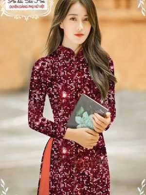 Vải áo dài lấp lánh 3D AD T7465 23