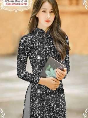 Vải áo dài lấp lánh 3D AD T7465 22