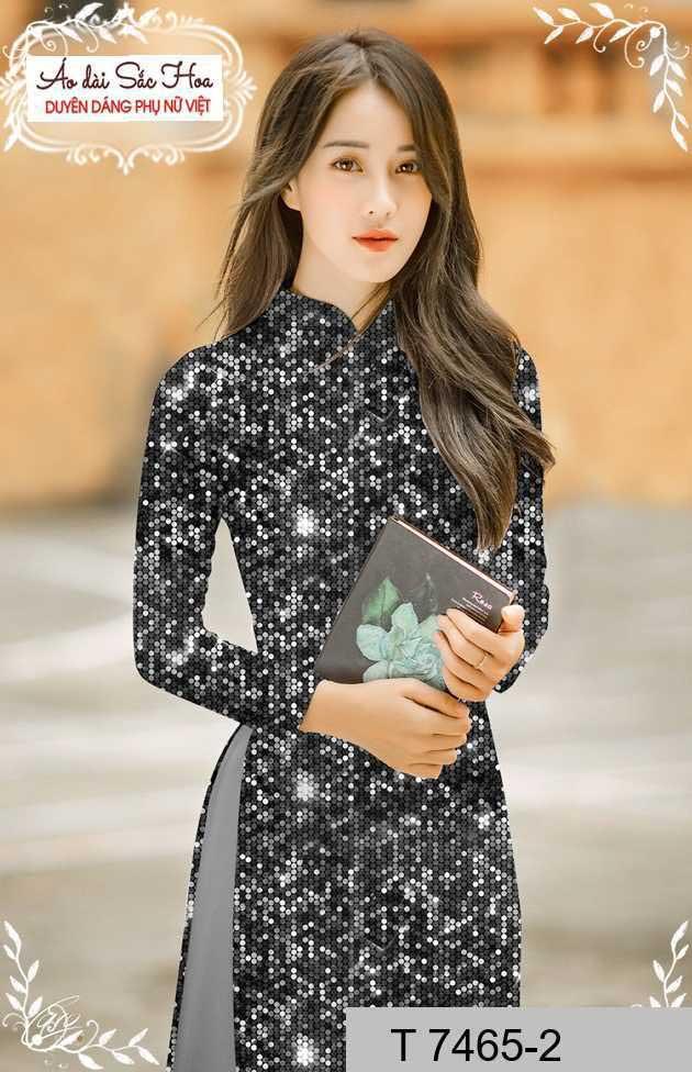Vải áo dài lấp lánh 3D AD T7465 34