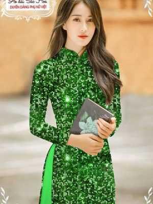 Vải áo dài lấp lánh 3D AD T7465 20