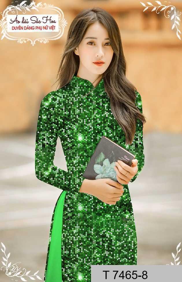 Vải áo dài lấp lánh 3D AD T7465 33