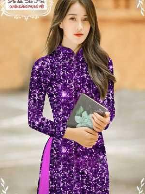 Vải áo dài lấp lánh 3D AD T7465 24