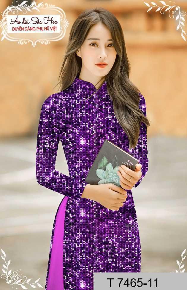 Vải áo dài lấp lánh 3D AD T7465 36