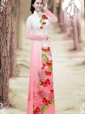 Vải áo dài hoa phượng AD 610498 18