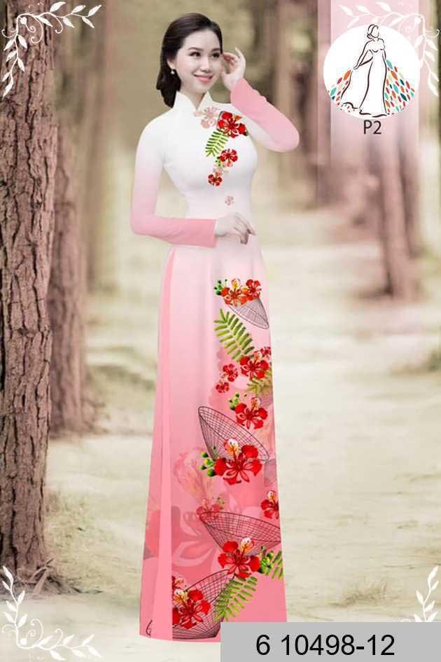 Vải áo dài hoa phượng AD 610498 36