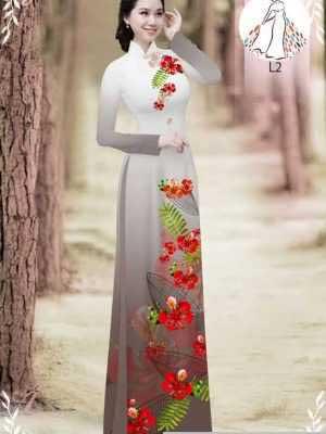 Vải áo dài hoa phượng AD 610498 22