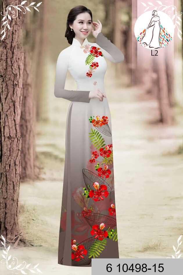 Vải áo dài hoa phượng AD 610498 40