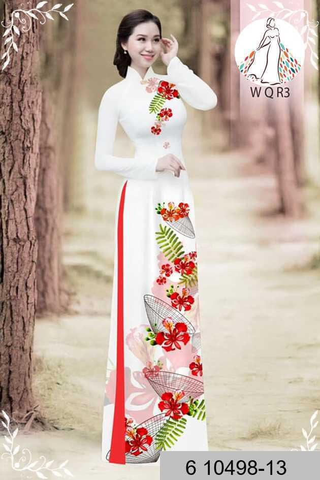 Vải áo dài hoa phượng AD 610498 35