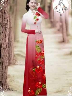 Vải áo dài hoa phượng AD 610498 20