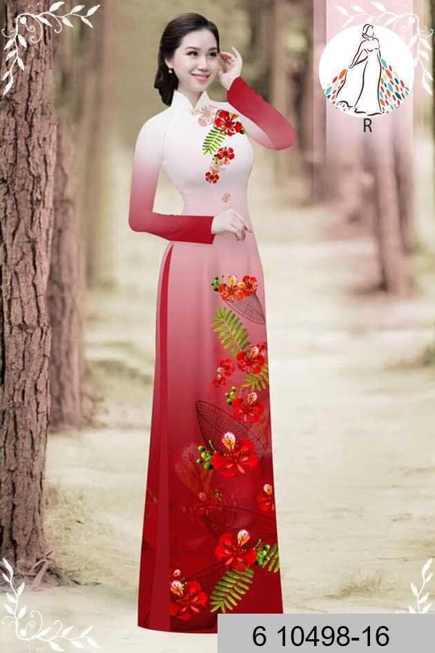 Vải áo dài hoa phượng AD 610498 38