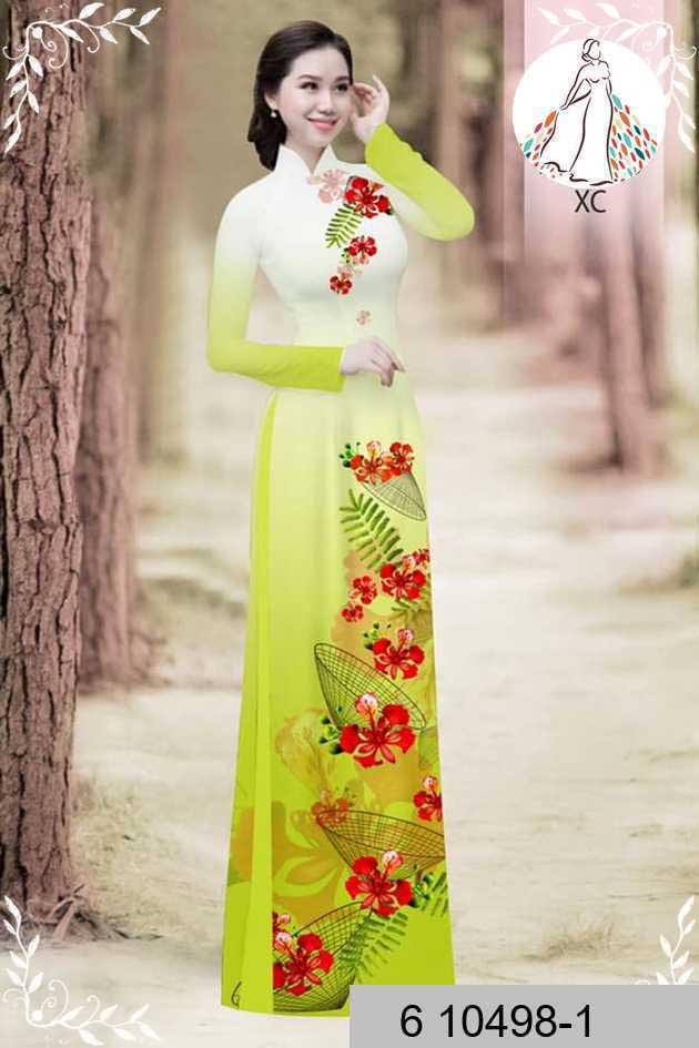 Vải áo dài hoa phượng AD 610498 39