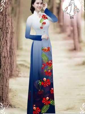 Vải áo dài hoa phượng AD 610498 19