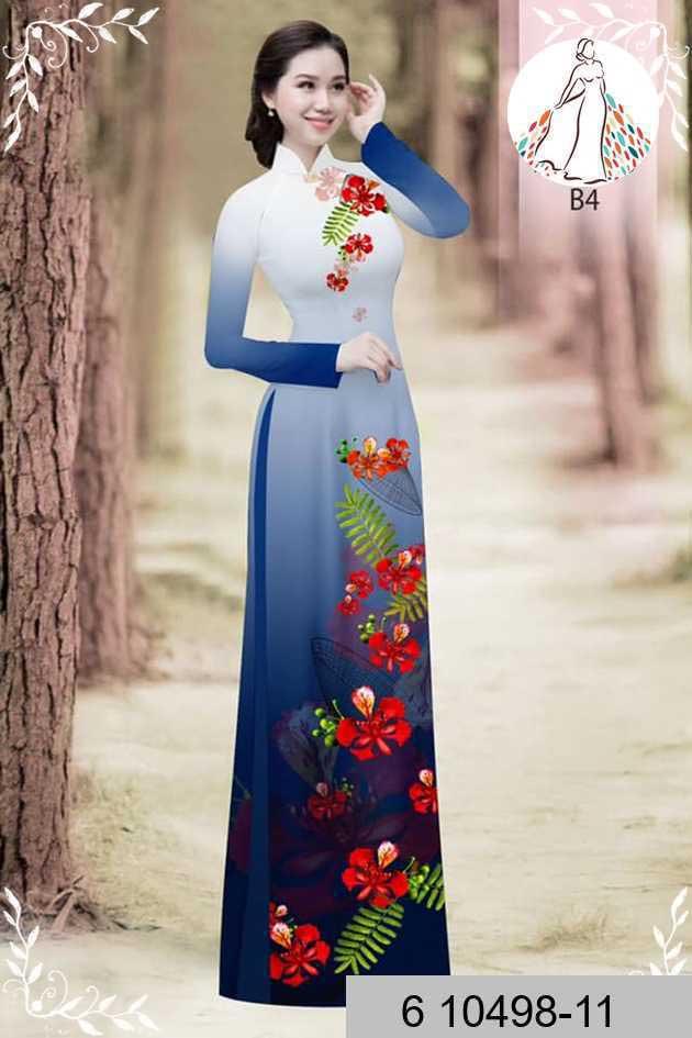 Vải áo dài hoa phượng AD 610498 37
