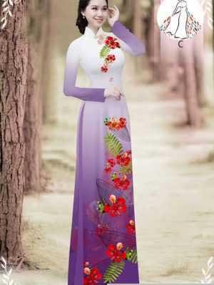 Vải áo dài hoa phượng AD 610498 23
