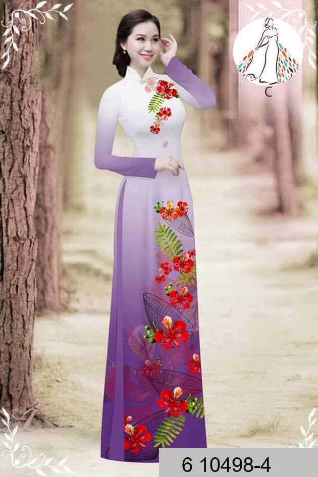 Vải áo dài hoa phượng AD 610498 41