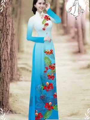 Vải áo dài hoa phượng AD 610498 25
