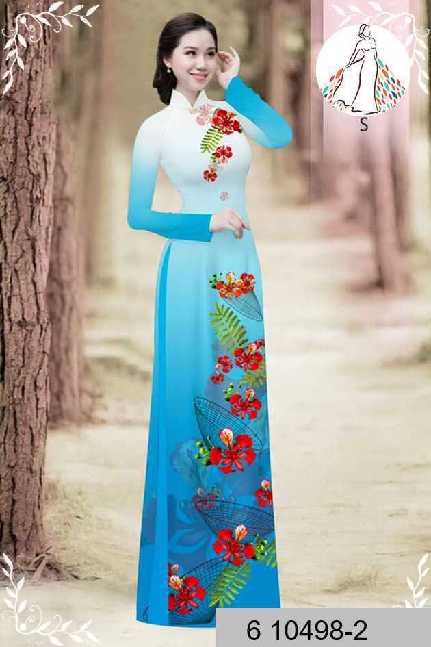 Vải áo dài hoa phượng AD 610498 43