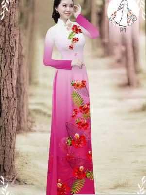 Vải áo dài hoa phượng AD 610498 26