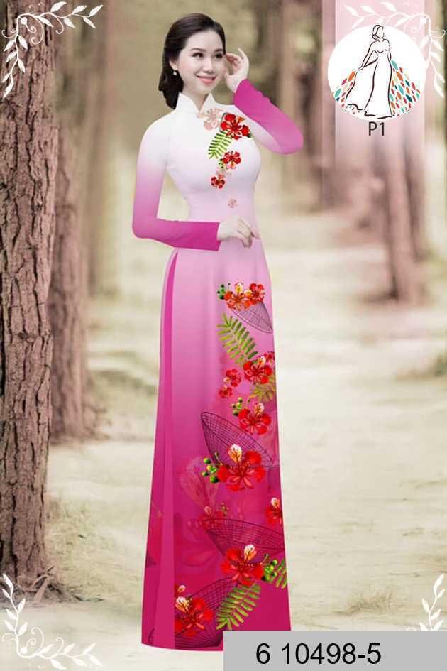 Vải áo dài hoa phượng AD 610498 44