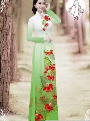 Vải áo dài hoa phượng AD 610498 24