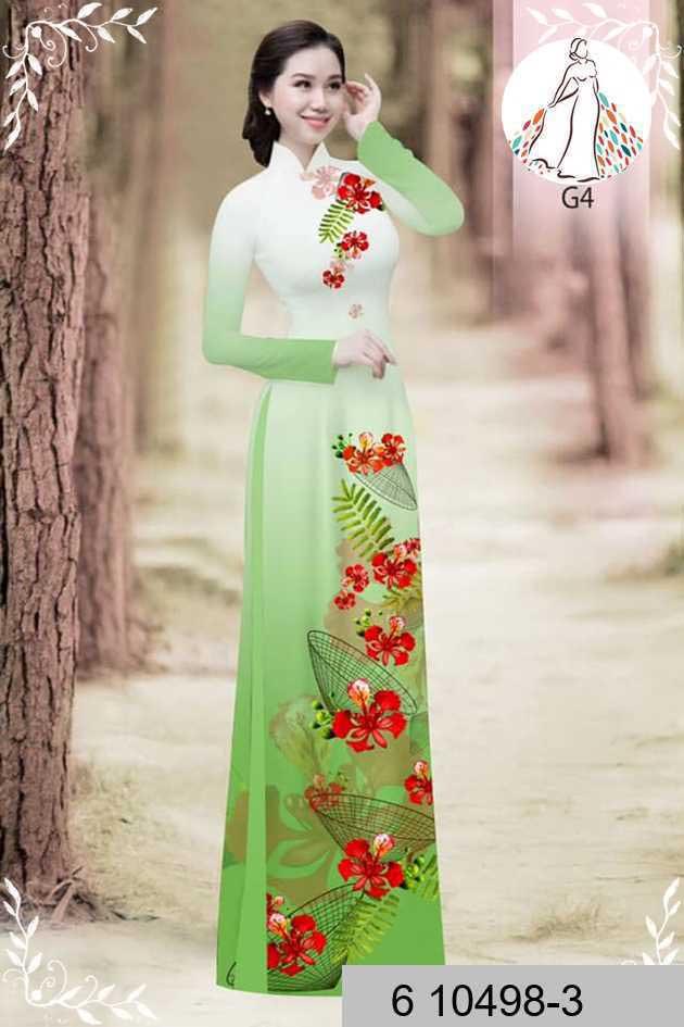 Vải áo dài hoa phượng AD 610498 42