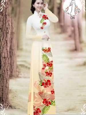 Vải áo dài hoa phượng AD 610498 28