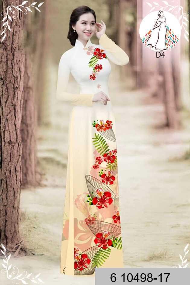 Vải áo dài hoa phượng AD 610498 46