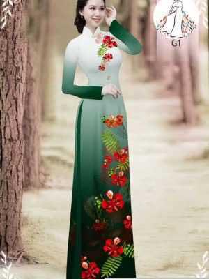 Vải áo dài hoa phượng AD 610498 27