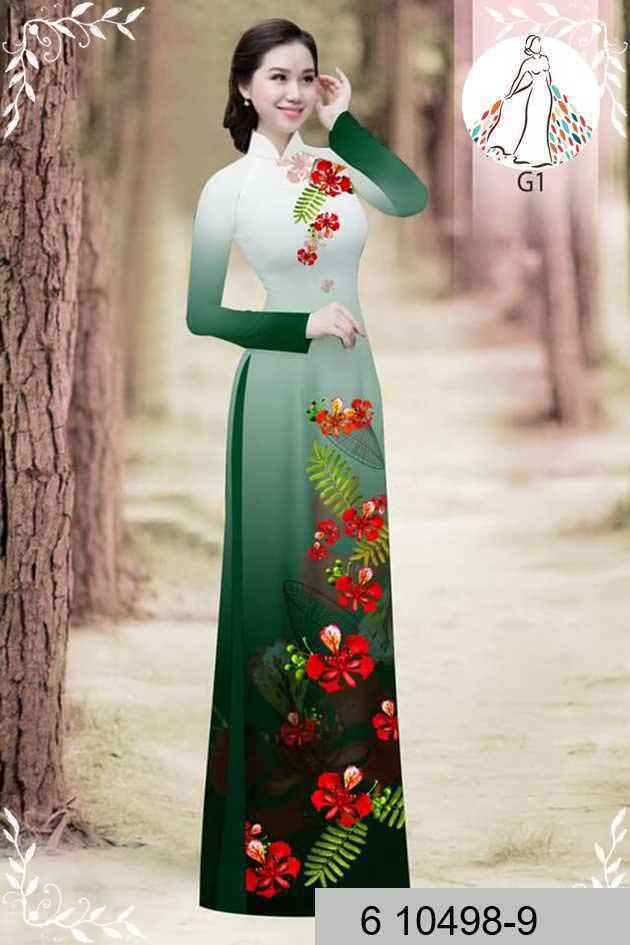 Vải áo dài hoa phượng AD 610498 45