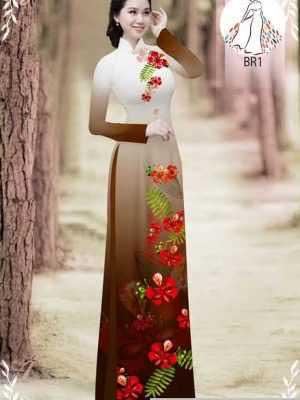 Vải áo dài hoa phượng AD 610498 31