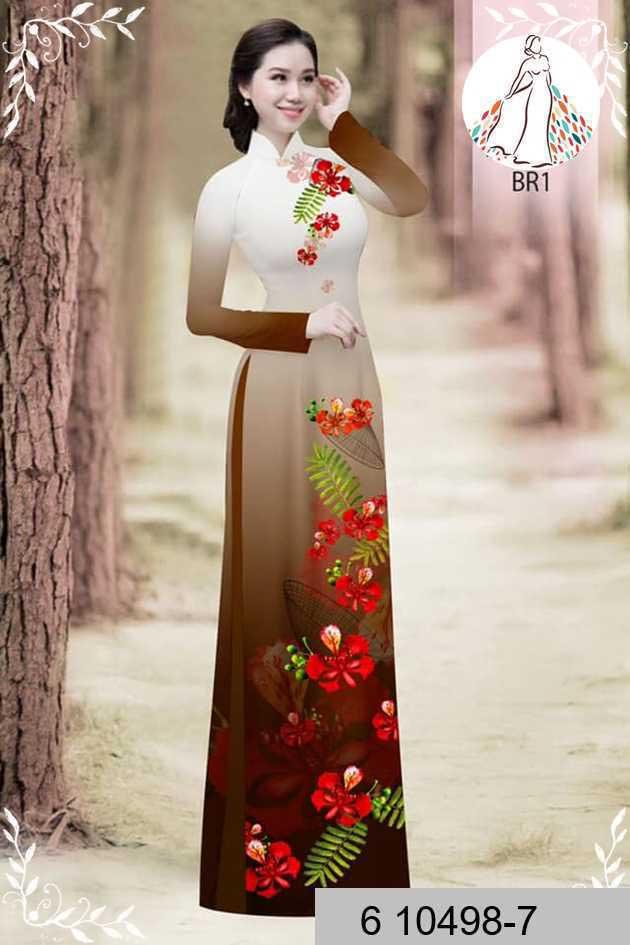 Vải áo dài hoa phượng AD 610498 49