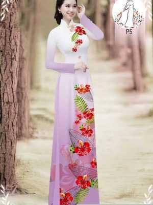 Vải áo dài hoa phượng AD 610498 32