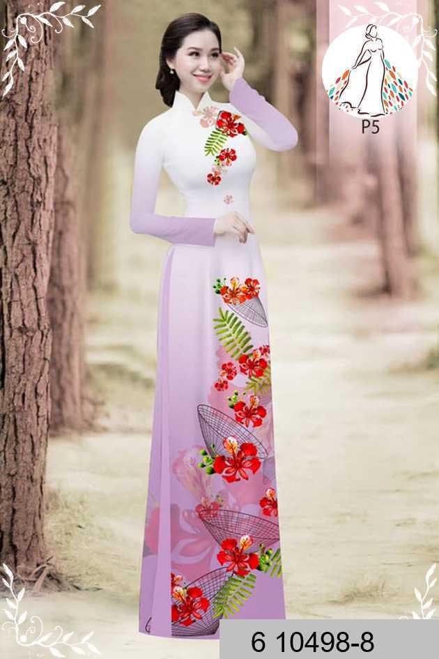 Vải áo dài hoa phượng AD 610498 50