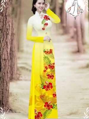 Vải áo dài hoa phượng AD 610498 29