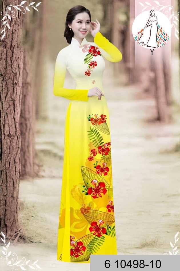 Vải áo dài hoa phượng AD 610498 47