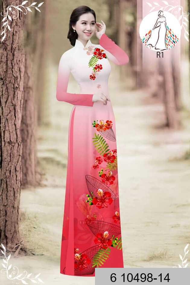 Vải áo dài hoa phượng AD 610498 48