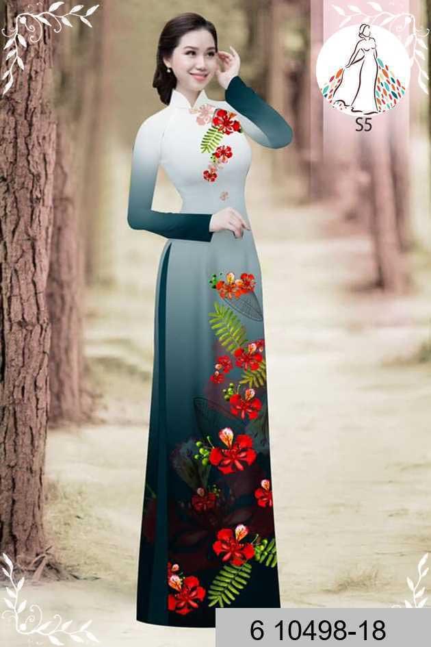 Vải áo dài hoa phượng AD 610498 51