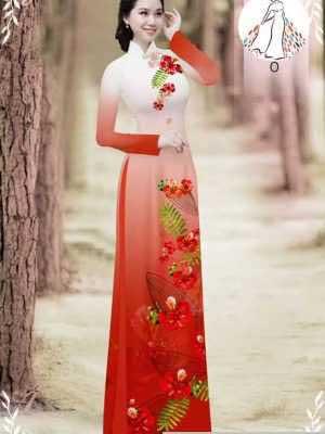 Vải áo dài hoa phượng AD 610498 34
