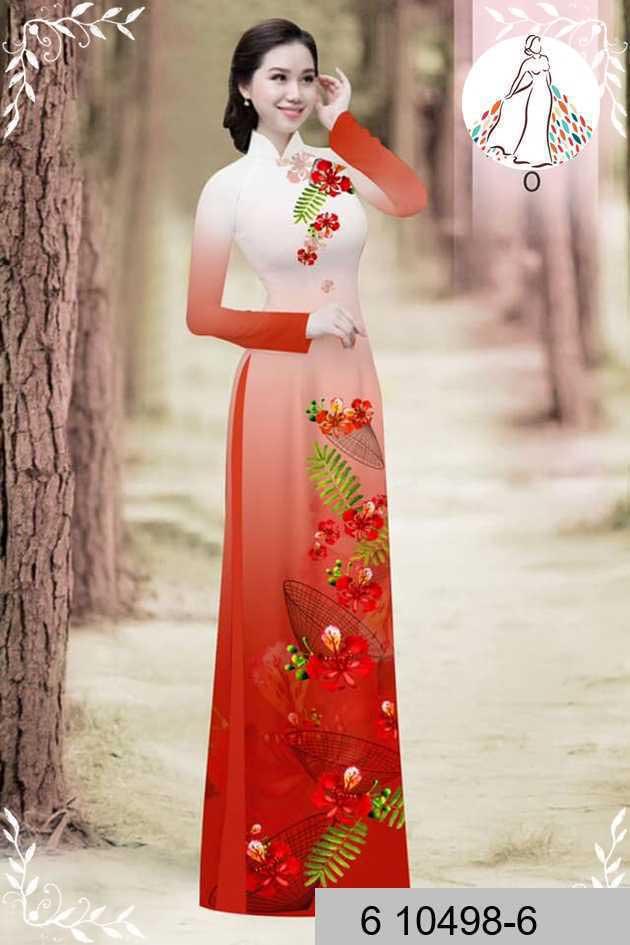 Vải áo dài hoa phượng AD 610498 52