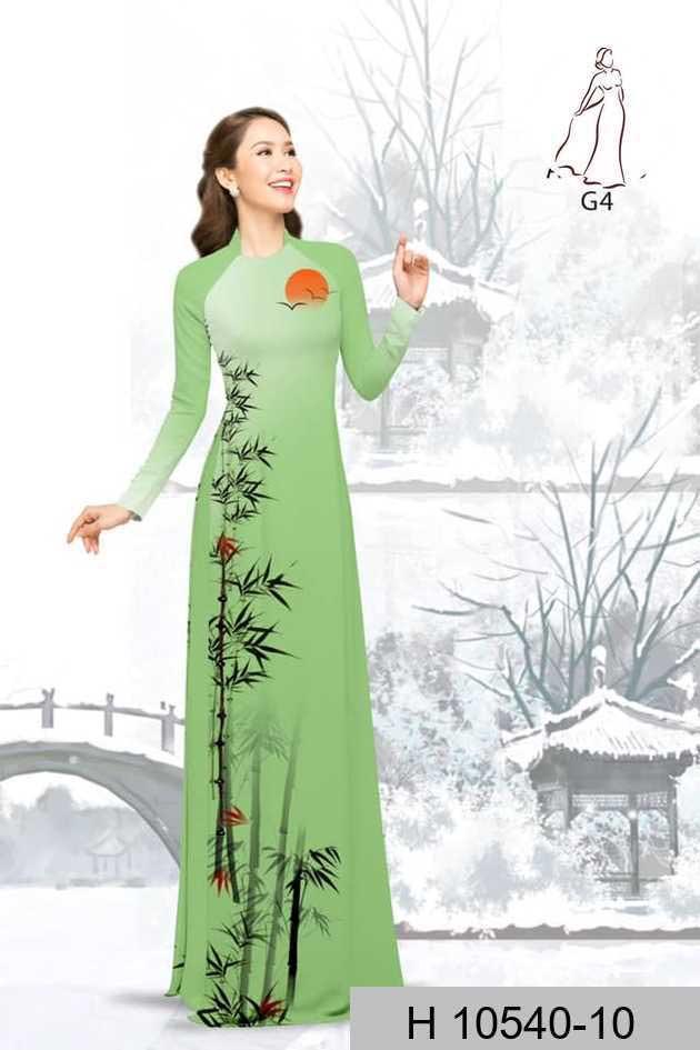 Vải áo dài tre trúc AD H10540 38