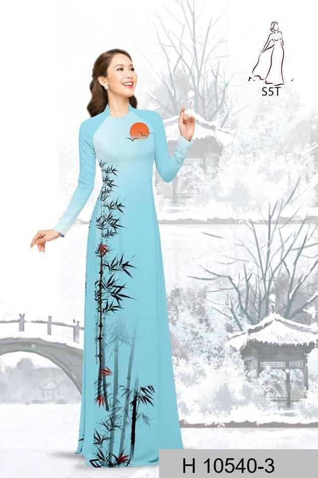 Vải áo dài tre trúc AD H10540 41