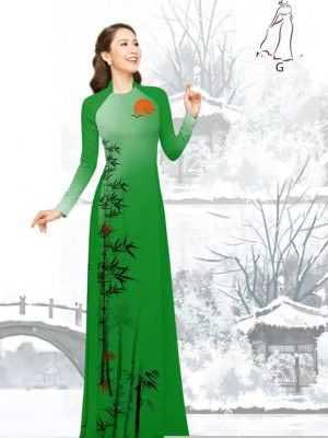Vải áo dài tre trúc AD H10540 21