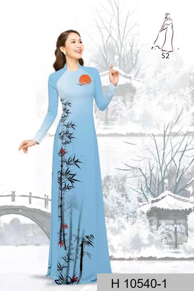 Vải áo dài tre trúc AD H10540 48