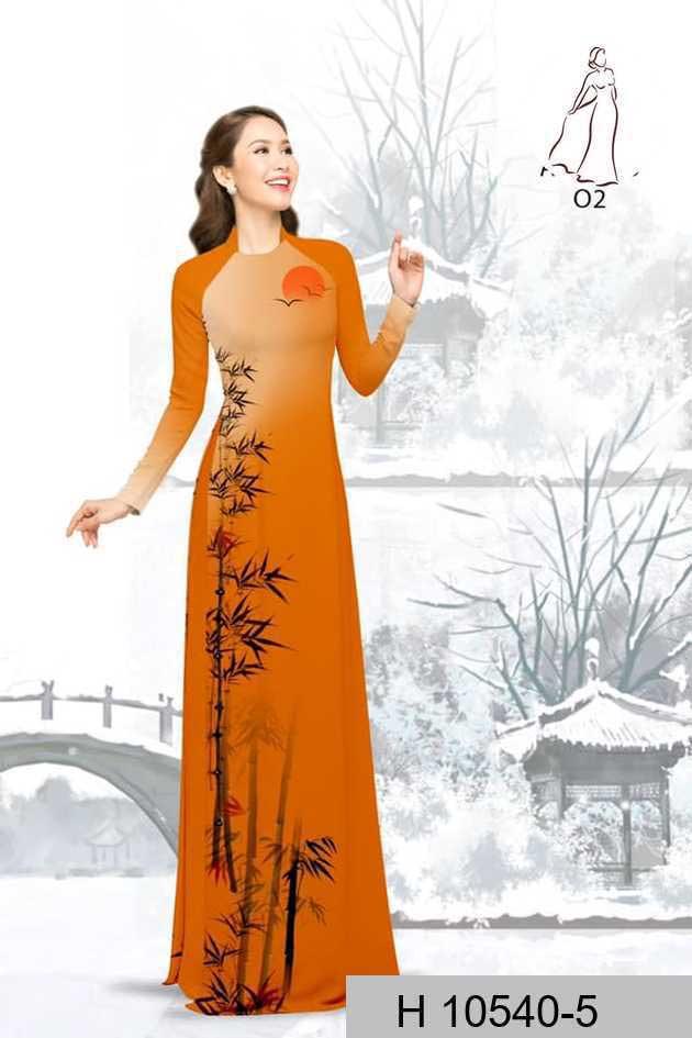 Vải áo dài tre trúc AD H10540 45