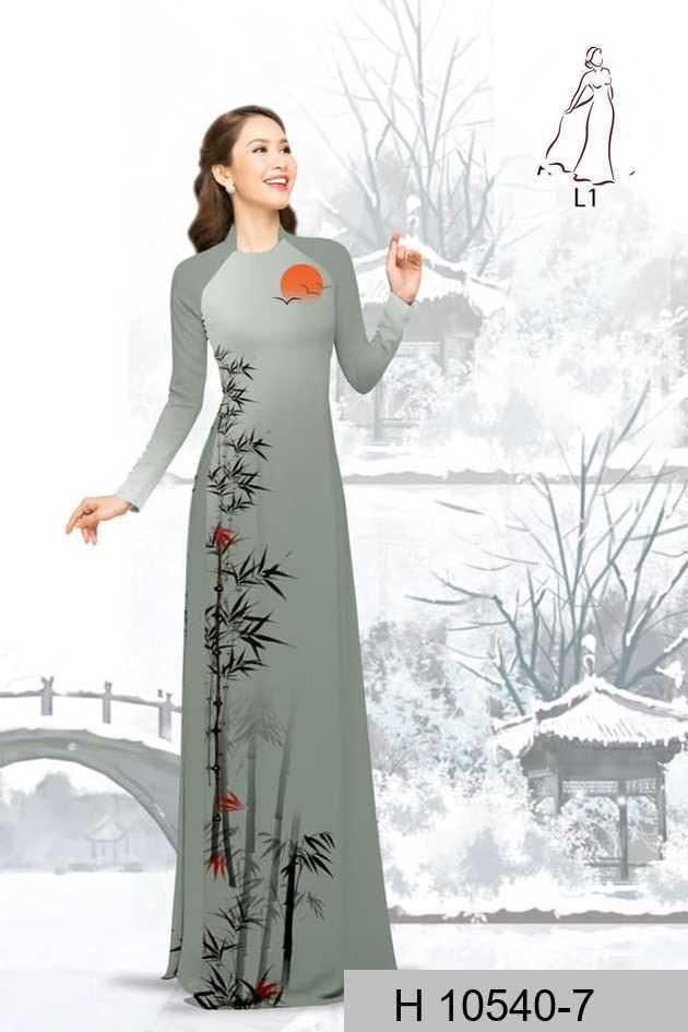 Vải áo dài tre trúc AD H10540 46