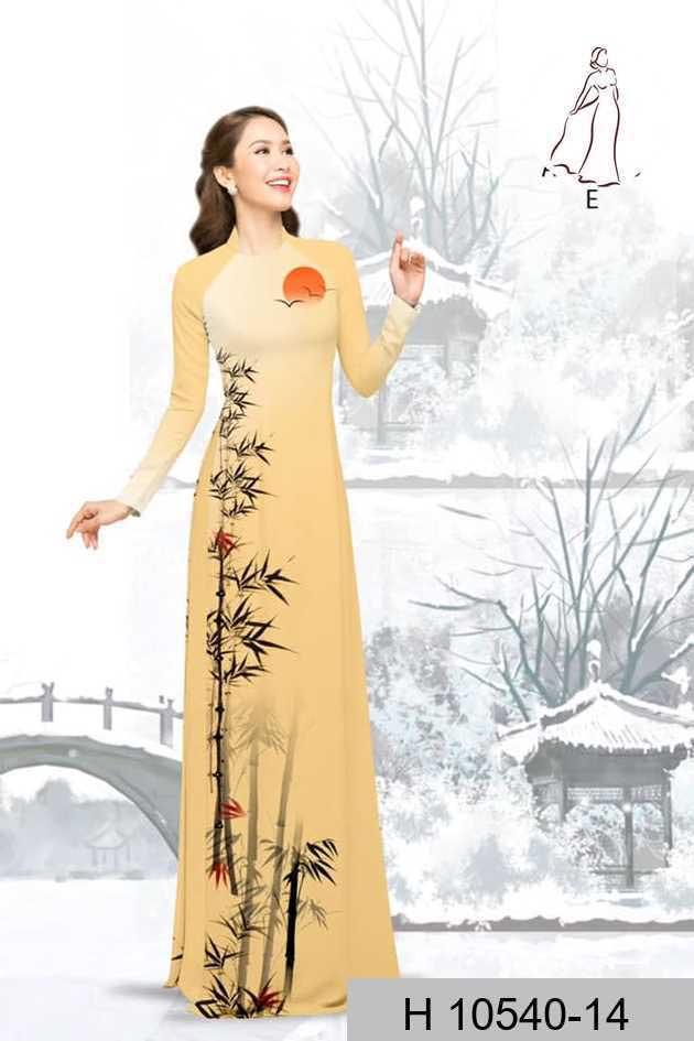 Vải áo dài tre trúc AD H10540 52